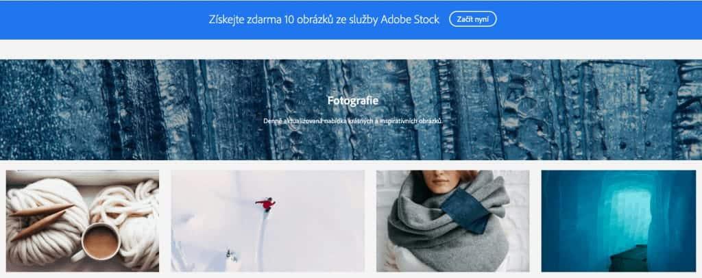 Snímek obrazovky - Adobe Stock