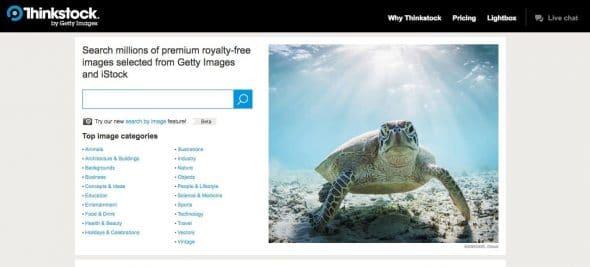 Snímek obrazovky stránky Thinkstock