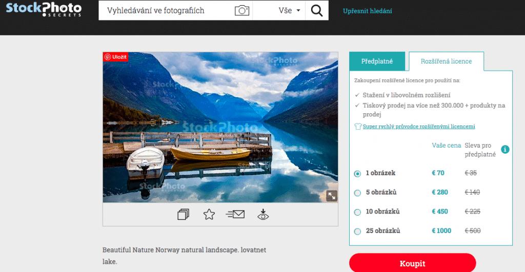 Stock Photo Secrects rozšířená licence