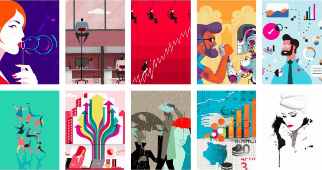 6 absolutně nejlepších webů k nalezení dokonalých ilustrací na fotobankách 20