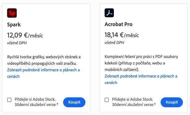 Rozdělení cen služby Adobe Creative Cloud: Najděte si svůj ideální plán 6