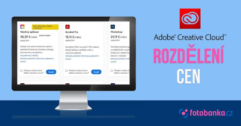 Rozdělení cen služby Adobe Creative Cloud: Najděte si svůj ideální plán 1